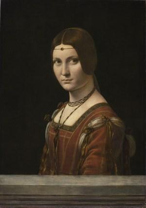 Leonardo da Vinci, Porträt einer Dame vom Mailänder Hof,