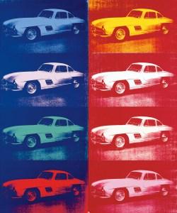 Andy Warhol, Mercedes-Benz 300 SL Coupé, Ausstellung AMERIKA, DISNEY, ROCKWELL, POLLOCK, WARHOL