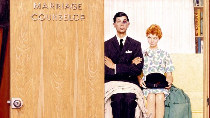 Norman Rockwell, Marriage Counselor, Ausstellung AMERIKA, DISNEY, ROCKWELL, POLLOCK, WARHOL