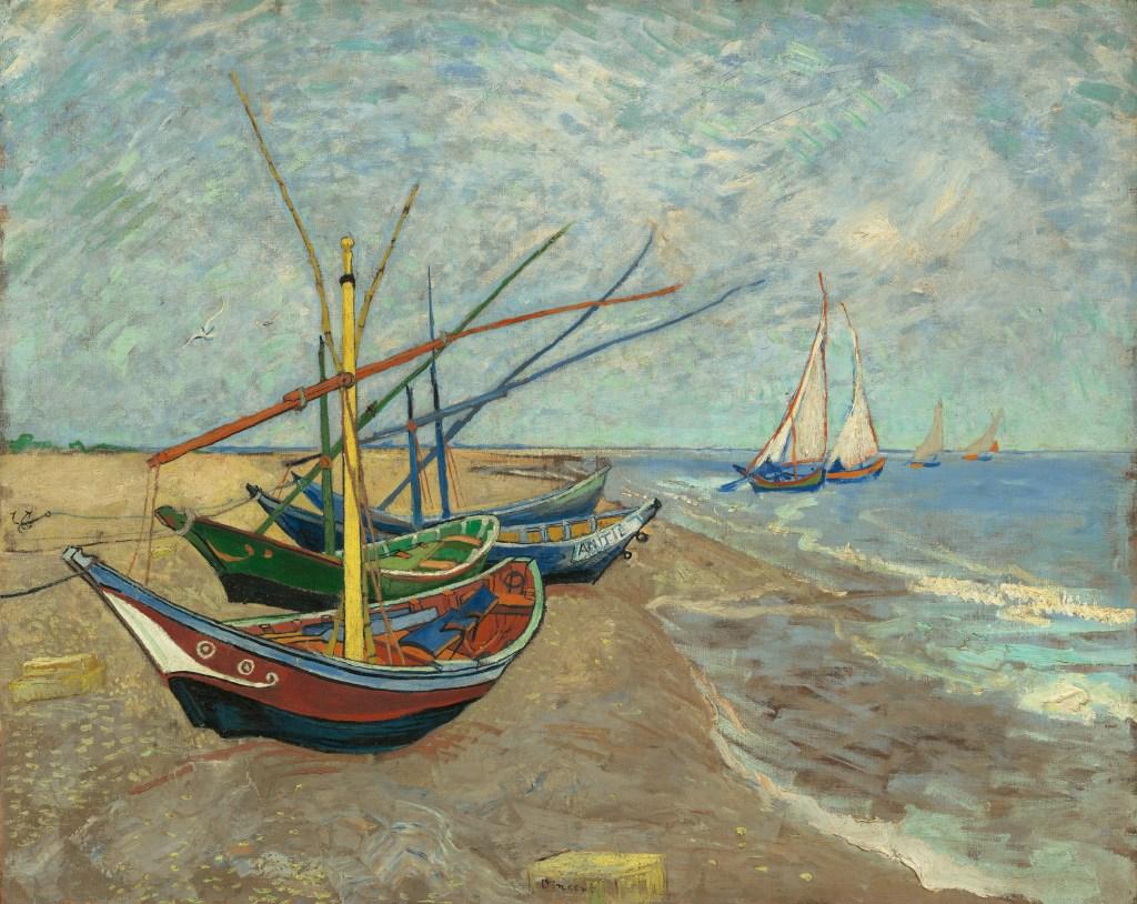 Making Van Gogh, Vincent van Gogh, Segelboote am Strand, Ausstellung in Frankfurt, Städel Museum, Werke, Gemälde, Portaits