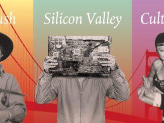 Composing v.l.n.r.: Joseph Sharp mit Spitzhacke, Goldpfanne und Gewehr, San Francisco, California Dreams, San Francisco – ein Porträt