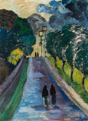 MARIANNE VON WEREFKIN, Die Allee (L'Allée ), Deutscher Expressionismus, Ausstellung im Leopold Museum, Expressionistische Kunst aus Deutschland