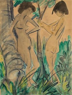 OTTO MUELLER, Zwei Akte im Walde, Deutscher Expressionismus, die sammlungen braglia und johenning