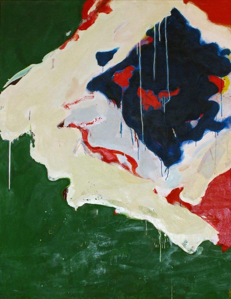 Teruko Yokoi, Shizen (Natur), Teruko Yokoi Werke, Teruko Yokoi Bilder, abstrakte Gemälde