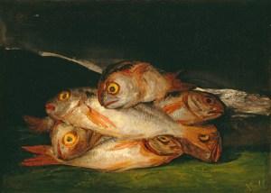 Goya, Francisco de Goya, Stillleben mit Goldbrassen, Fondation Beyeler, Goya Werke und Bilder,