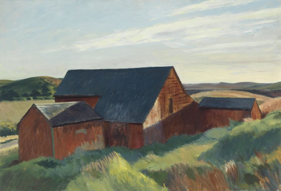 Edward Hopper, Cobb's Barns, South Truro, Hoper Ausstellung, Edward Hopper Kunstwerke, Fondation Beyeler