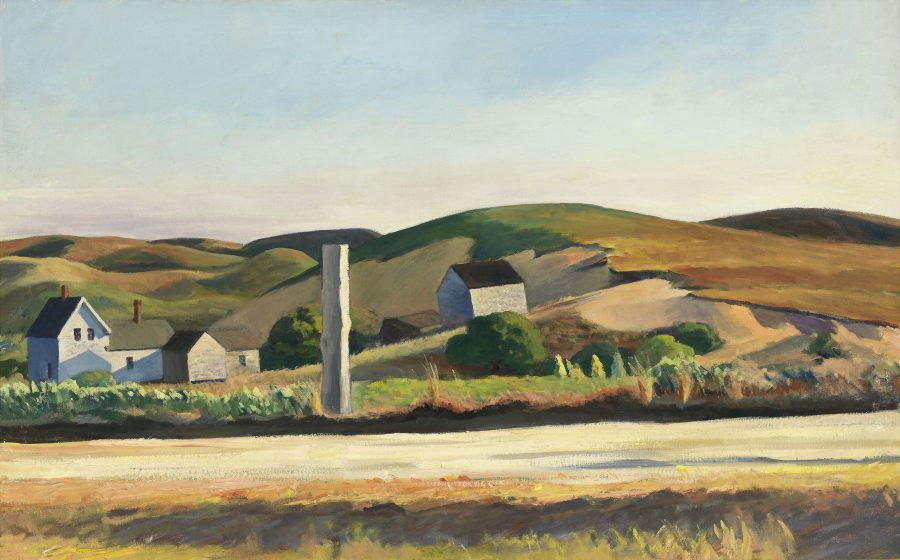 Edward Hopper, Road and Houses, South Truro, Hoper Ausstellung, Edward Hopper Kunstwerke, Fondation Beyeler