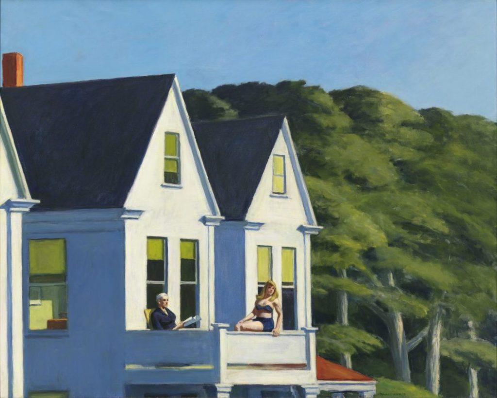 Edward Hopper, Second Story Sunlight, Hoper Ausstellung, Edward Hopper Kunstwerke, Fondation Beyeler