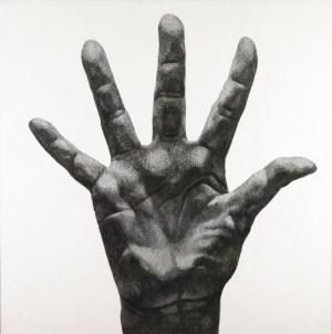 Florentina Pakosta, Große Hand mit gespreizten Fingern, The Beginning, Albertina Modern,