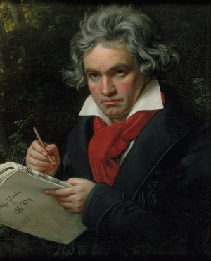 Joseph Karl Stieler, Beethoven mit dem Manuskript der Missa solemnis, BEETHOVEN WELT, BÜRGER, MUSIK Bundeskunsthalle Bonn,