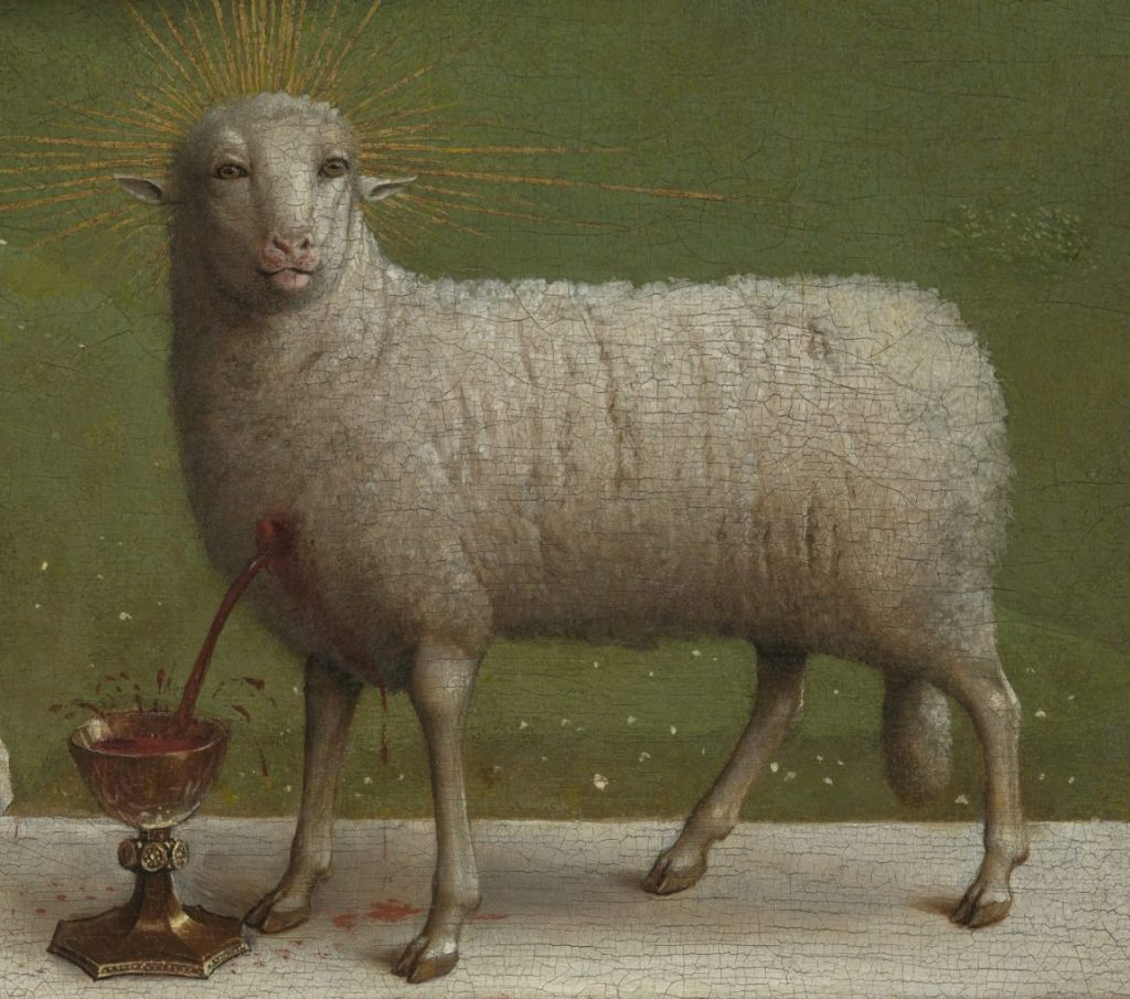 Jan van Eyck, Genter Altar, Flügelaltar, Lamm Gottes, Heimkehr des Lammes, St.-Bavo Kathedrale