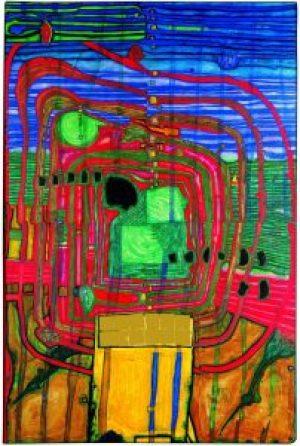 Hundertwasser, HOMMAGE AU TACHISME, Friedensreich Hundertwasser, Kunst Haus Wien