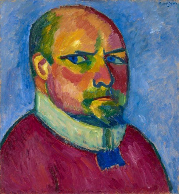 Alexej von Jawlensky, Selbstbildnis, Kunstmuseum Basel, Meisterwerke der Sammlung Im Obersteg