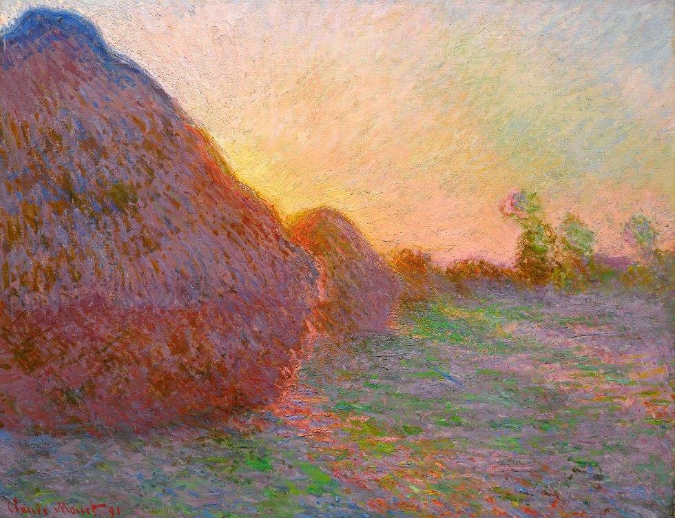 Claude Monet, Getreideschober, Claude Monets Getreideschober, Hasso Plattner Foundation,