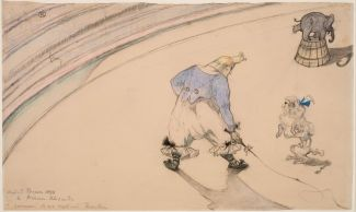 Henri de Toulouse-Lautrec, Im Zirkus Clown Footit – Dresseur, 1899. Statens Museum for Kunst, Kopenhagen © SMK Photo