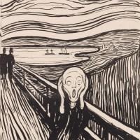 Edvard Munchs Meisterwerke der Druckgrafik in der Albertina Wien - Liebe, Tod und Einsamkeit...