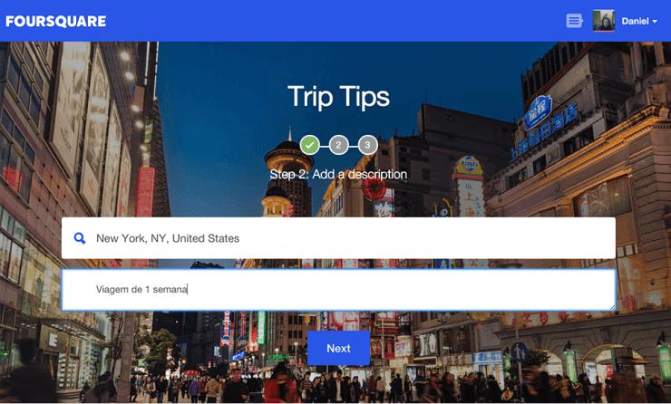 Foursquare Trip Tips Local