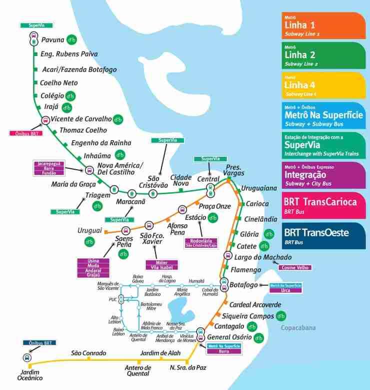 Mapa-do-Metro-do-Rio-Tamanho-Grande-1 Mapa do Metro do Rio Tamanho Grande