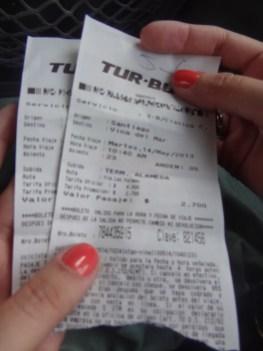 Santiago-Chile-primeiros-passos-ticket-de-onibus-rodoviária Santiago Chile - Primeiros passos (Parte 2)