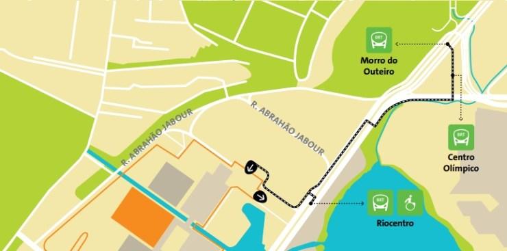 como-chegar-a-barra-da-tijuca-olimpiadas-mapa-Riocentro Como chegar a Barra da Tijuca   Guia Olímpico Rio 2016