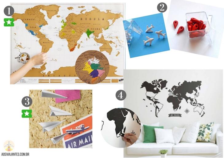 Dicas-de-presentes-para-viajantes-mapas-1 +40 Dicas de presentes para viajantes !
