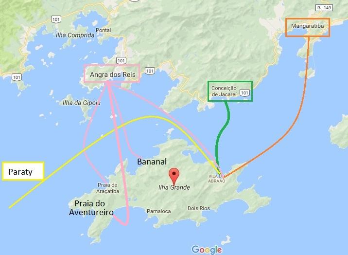 Como-chegar-a-Ilha-Grande-e-onde-se-hospedar-mapa Como chegar a Ilha Grande e onde se hospedar (em detalhes!)