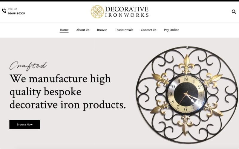 Decorative Ironworks homepage