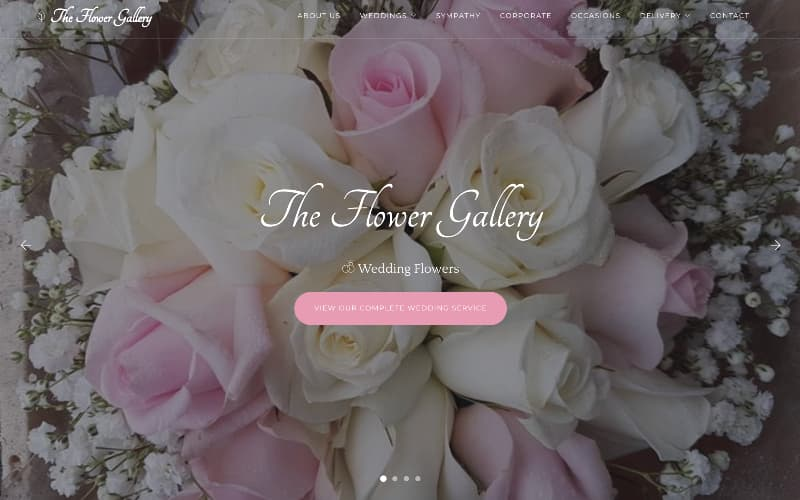 The Flower Gallery homepage