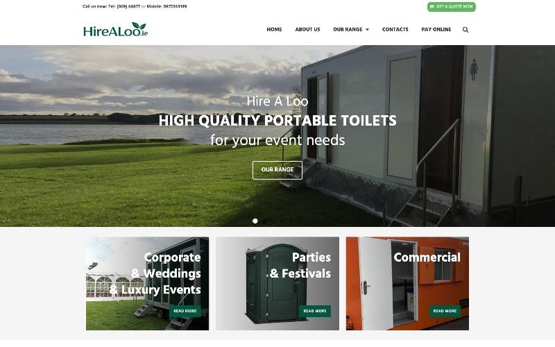 HireALoo homepage