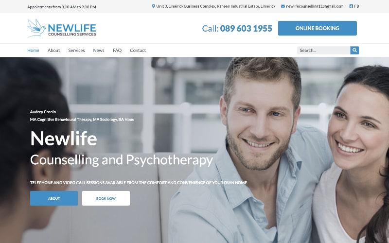 Newlife counseling homepage