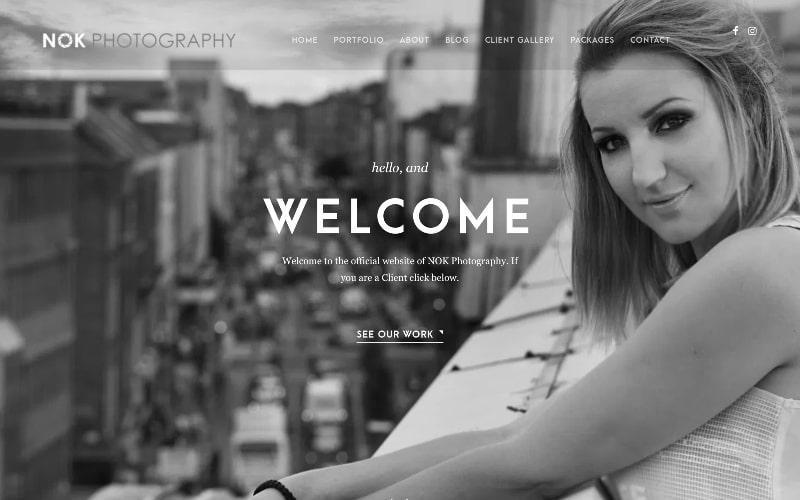 Nok Photograaphy homepage