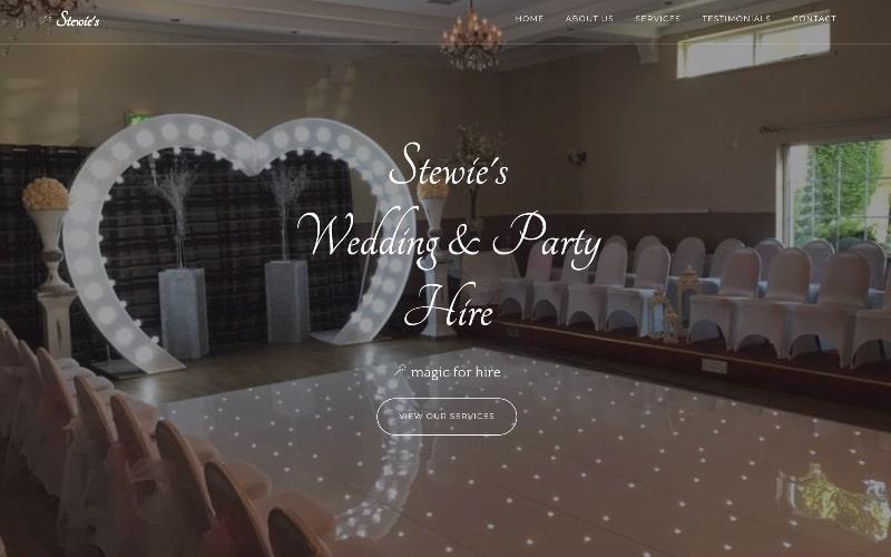 Stewie's Wedding Hire homepage