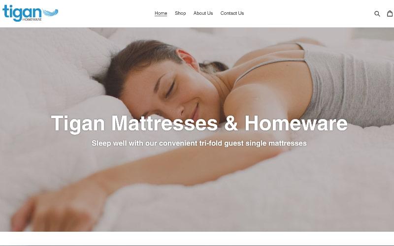 Tigan Homeware homepage