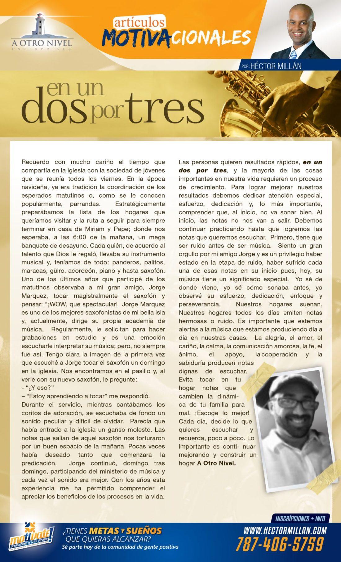 articulo motivacional - Hector  Millan
