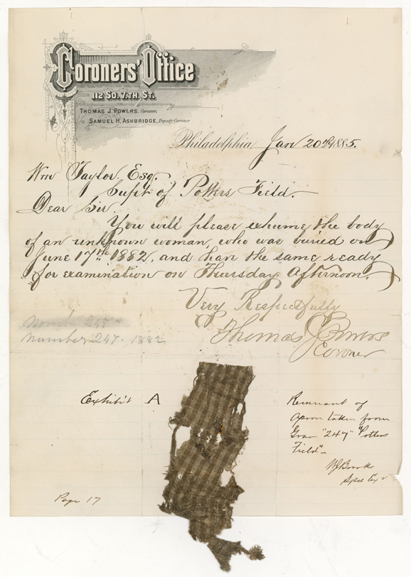 Evidence from the pension file of Esther Springfield