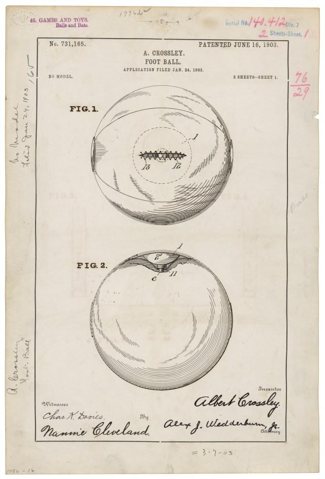 Football patent, June 16, 1903.