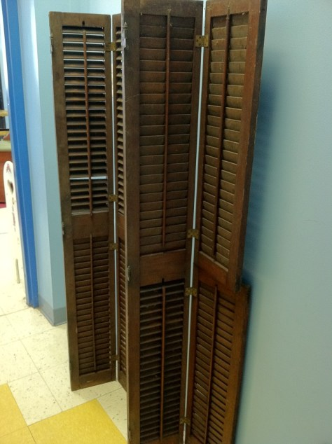 Photo architectural slatted shutters