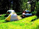 Free camping at grizzly lake in Teton National Park