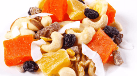 One of my favorite walmart trail mix is the tropical trail mix recipe. I love this camping food treat. Unfortunately, my new found love wasn't as healthy as I thought it was. Dried fruits are a very healthy camping food treat, but the dried fruit in walmart trail mix has a lot of added sugar. Making it one of the most unhealthiest trail mix recipes you can buy from stores like amazon or walmart. My favorite dried fruit that I like to add to my trail mix recipes are strawberries. Handful of flavor everytime. Try it next time you make a home made trail mix batch before you backcountry camping trip.