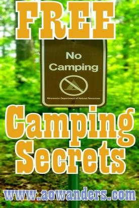 Free camping sites on Spider Lake in Foot Hills State Forest
