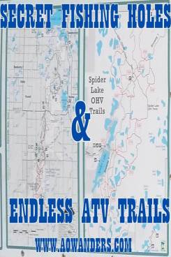 Spider Lake Trails offer 29 square miles of ATV fun for the whole family in the Foot Hills State Forest