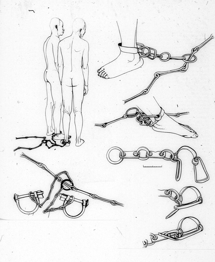 Leg Shackles on Slave Ship, the middle passage