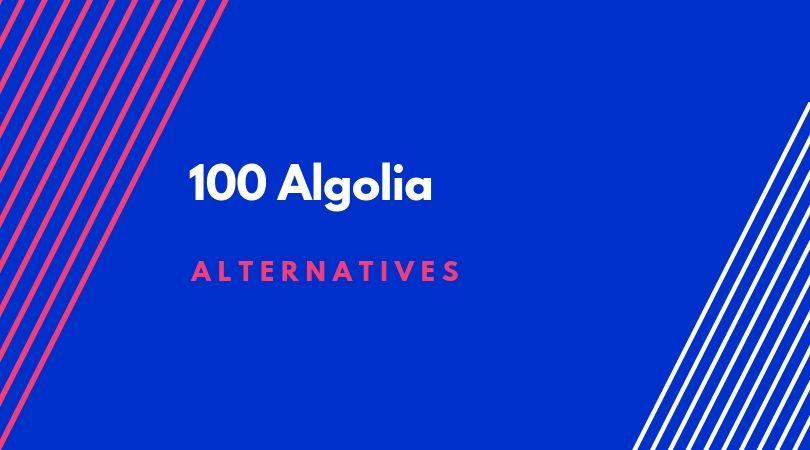 100 Algolia alternatives 1