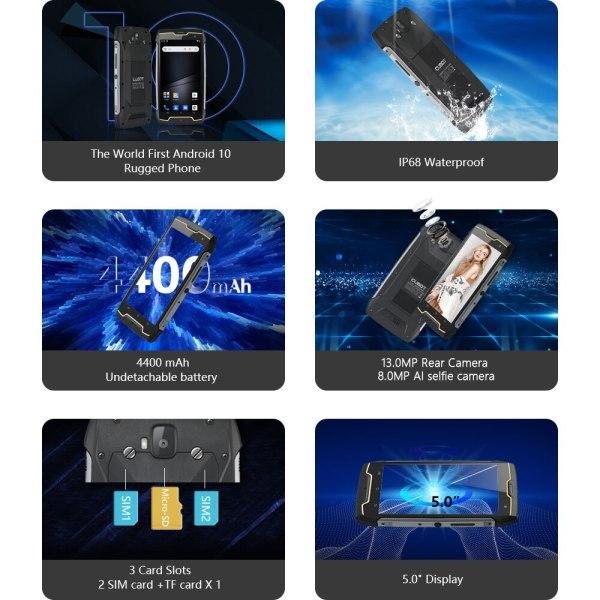 Cubot KingKong CS אנדרואיד 10 IP68 Waterproof Smartphone 5 אינץ 4400mAh פנים מזהה Dual SIM כרטיס טלפון מוקשח טלפון מלך קונג CS 2