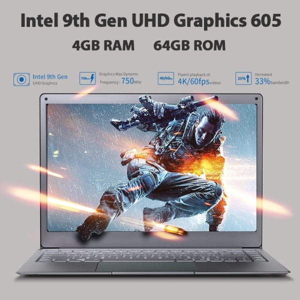 "Newest Laptop BMAX X13PLUS 13.3"" Intel Pentium Silver N5000 1920x1080 IPS Notebook 4GB RAM 64GB ROM Laptops Windows 10 Computer 4"