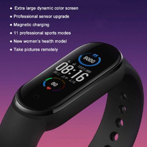 Xiaomi Mi Band 5 Smart Bracelet Band AMOLED Screen Miband 5 Smartband Fitness Wristband Heart Rate Monitor Bluetooth Sport Water 6