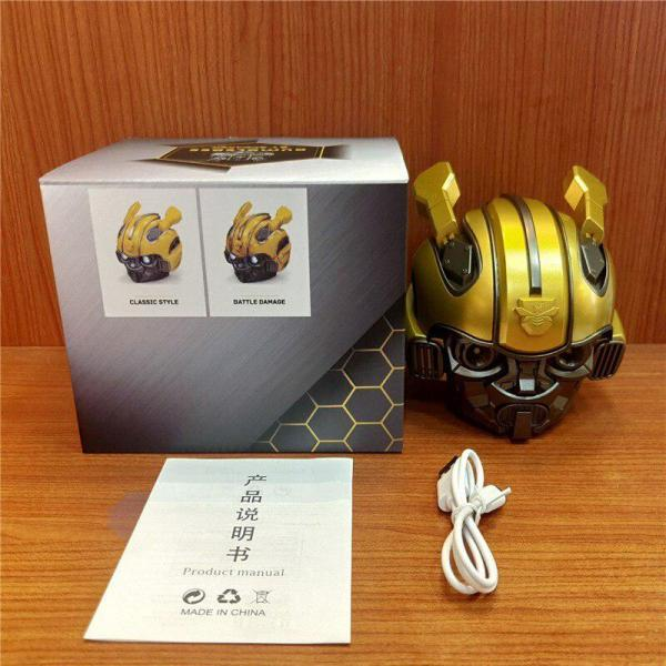 Kuulee Bumblebee Helmet Bluetooth Speaker Fm Radio Usb Mp3 TF Smart Subwoofer Bluetooth 5.0 Mini Wireless Stereo Loudspeakers 5