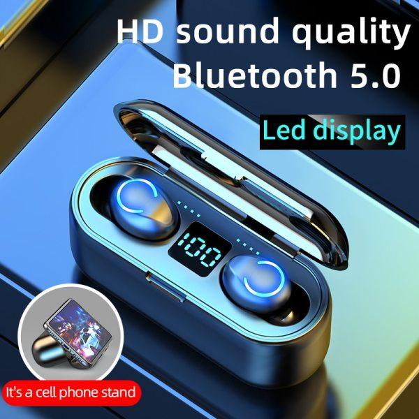 Mini TWS Bluetooth 5.0 Earphones Wireless Headphones 9D Hifi Stereo Sports Waterproof Wireless Earphone Headset With Microphone 1
