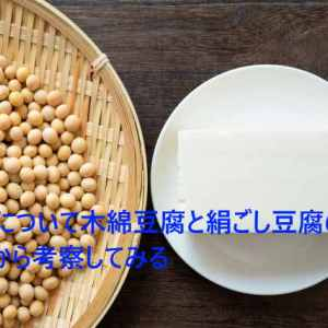 豆腐について木綿豆腐と絹ごし豆腐の違いから考察してみる