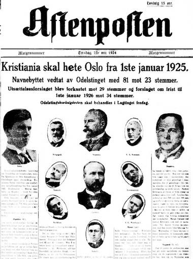 1. juli kunne Aftenposten fortelle at da Odelstinget i forkant av Stortingets avstemming gikk inn for omnavningen med stort flertall, var løpet kjørt.